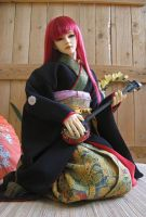 BJD Sokuto, Playing Shamisen by InarisansCrafts