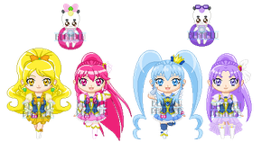 ChibiP: Happiness Charge Pretty Cure by blknblupanther