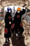 Pein and Konan - Colored by Fuyu-no-Hime