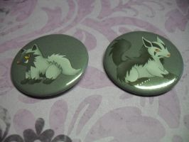 Pokemon Buttons: 2 Evolution Chain For Sale by R3YD1O