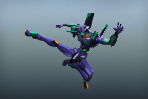 EVA 01 - Flying Kick by Catetas