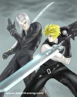 FF VII : AC  Swordfight by Ravis