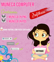 Doll Computer PSD by Sofithaax by SofithaaxTutoriales