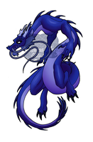Blue Dragon 01 by DragonessDeanna