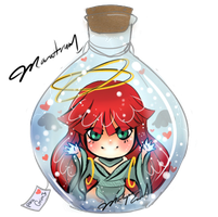 My Oc in a bottle by xXxMantrumxXx