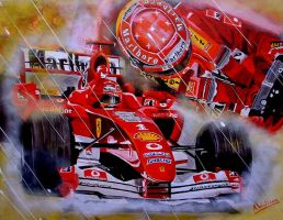 Michael Schumacher by LittleTesla