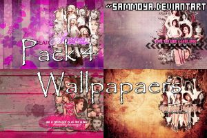 Pack 4 Wallpapers by SamMoya