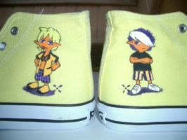 Virus on shoes by Takiusa
