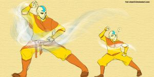 Aang and Tenzin by yuri-chan23