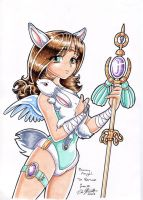 Renae the Rabbit Angel by chaypeta