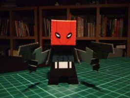 Red Hood Paper Toy by papertoyadventures