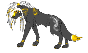 Silver + Gold Scenewolf - Points Adopt by xPixe