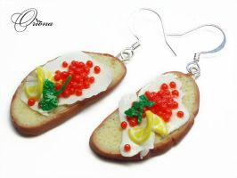 Sandwiches With Caviar by OrionaJewelry