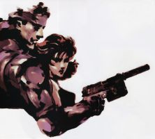 Snake And Meryl by MetalGearSolid211