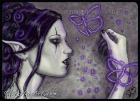 ACEO -- Fae Magick by ElvenstarArt