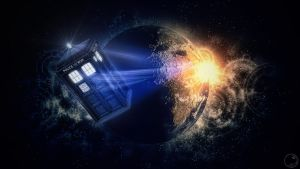 Tardis leaving by Guile93