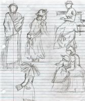 Georges Seurat Sketches by iamadisneyprincess