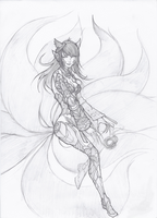 Pulsefire Ahri by TroubledHearts