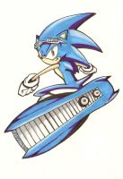 Sonic Riders: Sonic colored by Vauz