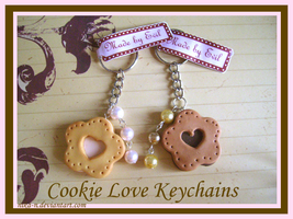 Cookie Love Keychains by Nika-N