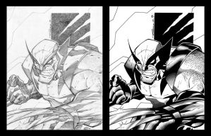 Wolverine Sharp Ready by Steven Sanchez by TheInkPages