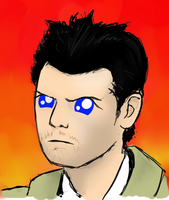 Supernatural Cas 'Bright Eyes' by DrLonePony