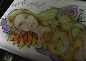 Sandra Lauriano and cat Arthur :D style  neotrad by keper7