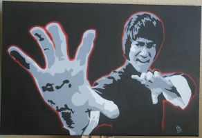 Bruce Lee on Canvas by freedeebloke