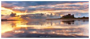 Bamburgh Castle Panorama by SebastianKraus