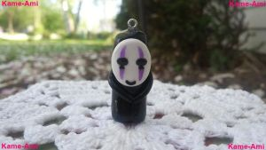 Kaonashi (No Face) Purple Charm by Kame-ami