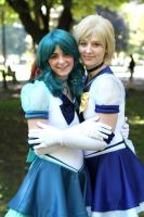 Eternal Sailor Neptune and Uranus Cosplay by IronStitchCosplay