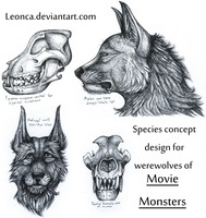 Movie Monsters werewolves by Leonca