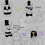 Five Nights at Fuckboy's Doodles by itsaaudra