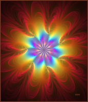 Fractal Rainbow Flower by baba49