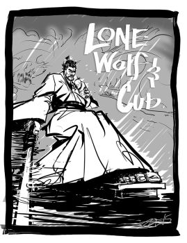 Lone Wolf Cub sketch v72 by ADE-doodles