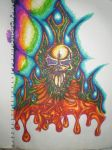psychedelic skull deviant by Simmo-Mylo