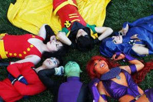 Teen Titans by Bheng-Bheng