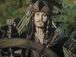 Johnny Depp - The Captain by shaman-art