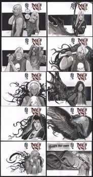 death vigil sketch covers 10 of 200 by nebezial