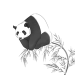 Relaxing Panda by dlax1