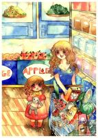 shopping with mother by Lovepeace-S
