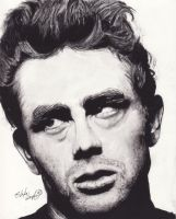 James Dean by DarkCalamity