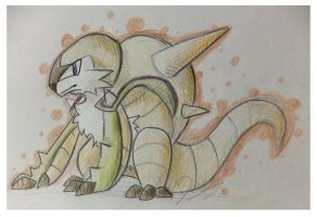 Traditional Sketch: Chesnaught by Dekkii