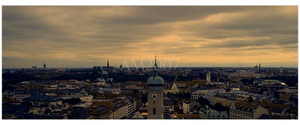 munich skyline by KoiStealsPens