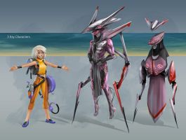 Silver Lining - 3 character designs by rubendevela