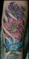 Lilies, lilies, lilies... by Reddogtattoo