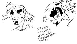 Persona Update and Zipper Mouth Redesign by Phycosmiley