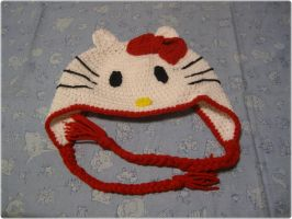 Hello Kitty crochet hat for my neice by giraffesonparades