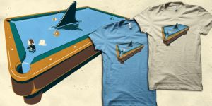 Pool shark t-shirt by biotwist