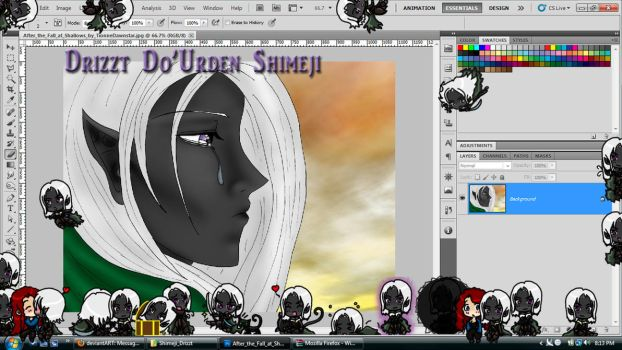 Drizzt Do'Urden Shimeji Download by TionneDawnstar